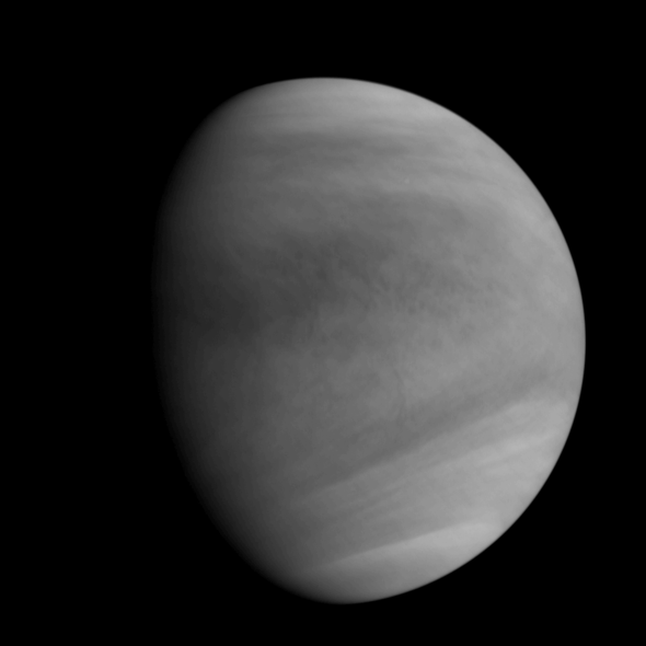 Venus' image acquired by UVI after Venus Orbit Insertion