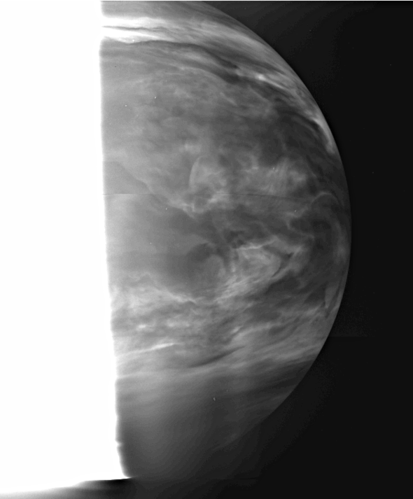 Venus nightside image by IR2 with 2.26-µm filter